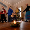 Newburyport: Ellen Kennedy leads a sacred dance celebrating the solstice at Chailey Manon in Newburyport. Jim Vaiknoras/staff photo