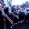 newburyport: The Newburyport  high band performs at the annual tree lighting in Market Square in Newburyport Sunday. jim Vaiknoras/staff photo