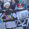 Amesbury: Girl Scout troop 7571 marches in Amesbury Santa Parade Saturday. Jim Vaiknoras/staff photo