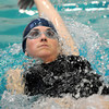 haverhill: Bridget Clifford competes in the back stroke at the 3rd annual Michael J. Horgan Memorial Swim Meet at Haverhill High School Pool  Staurday afternoon. teams competed in different lenth races to raise money for the Michael J. Horgan Memorial Fund in honor of Michael Horgan who died in March of 2011. Jim Vaiknoras/staff photo