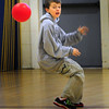 """BRYAN EATON/ Staff Photo. Tyler Clements, 11, makes an evasive move to avoid being hit by a rubber ball Monday afternoon. He was in a game of """"In and Out"""" which is a every-man-for-himself type of dodgeball at the Newburyport Rec Center."""
