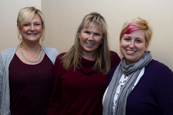 JIM VAIKNORAS/Staff photo Patty Mellon, Sherri Ziomek, and Cheryl Woodsom of Tough Warrier Princesses.