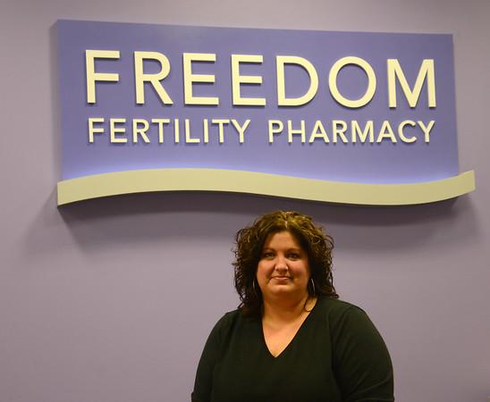 JIM VAIKNORAS/Staff photo Rachel Copeland, senior manager of patient services Freedom Fertility