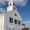 Seabrook: Eric Small of the Seabrook Historical Society is trying to get funding to repair the Old South Meetinghouse located at the intersection of Routes One and 107. Bryan Eaton/Staff Photo