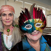 Newburyport: Lois von Fricke, left, and Mary Chick will be in costume to celebrate this weekend's Masquerade Ball to benefit St. Paul's Church. Bryan Eaton/Staff Photo