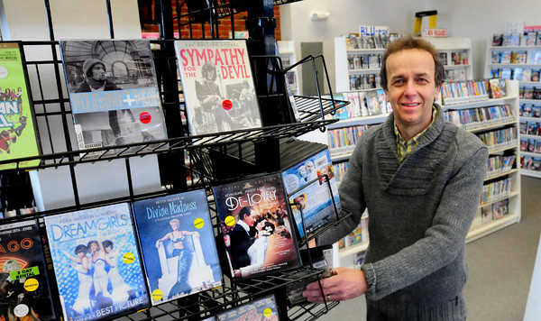 Newburyport: Peter Herman, owner of Video Express in the Tannery Marketplace, is closing shop in April and selling off his merchandise. Bryan Eaton/Staff Photo