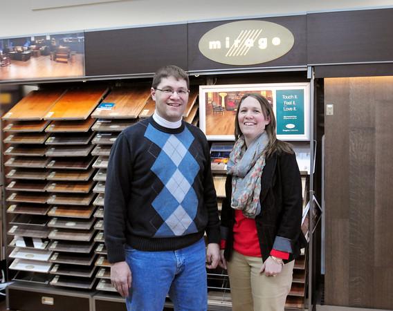 Groveland: Siblings Keith and Kristine Hastings of Hastings Floor Covering in Groveland. Bryan Eaton/Staff Photo