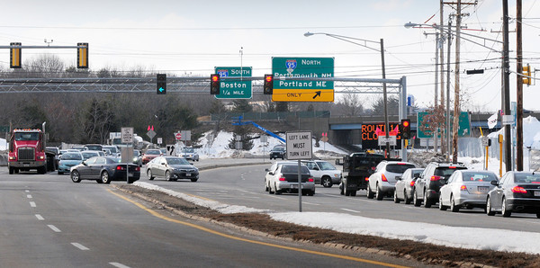 Salisbury: Beginning Sunday and ending March 7,  Route 110 will be closed to traffic between Clarks Road and Elm Street in Amesbury and Merrill Street and Rabbit Road, the intersection here looking east, in Salisbury each night from 9 p.m. until 5 a.m. the next morning. Brayn Eaton/Staff Photo