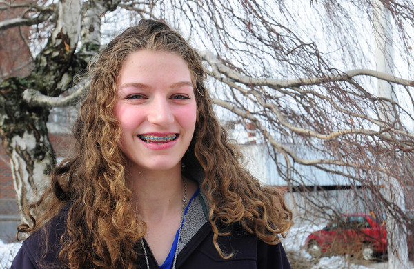 "Newburyport: Newburyport resident Lauren Healey was named ""Youth Hero"" by the American Red Cross. Bryan Eaton/Staff Photo"
