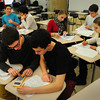 Amesbury: Members of the Amesbury High School math team practice on recent afternoon. Bryan Eaton/Staff Photo