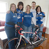 Amesbury: Members of the Lungstrong Team,from the left: Laurie Erwin, Heathr King, Diane Legg, David Legg and  Berta Grubeck. Jim Vaiknoras/staff photo
