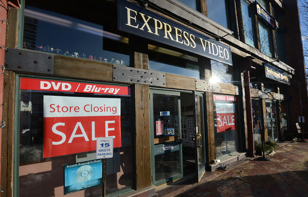 Newburyport: Express Video in the Tannery in Newburyport will be closing. Jim Vaiknoras/staff photo