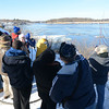 Newburyport; One of the 5 groups of birders sent out as part of the Eagle Festival Saturday search for eagles along the Merrimack River in Newburyport. This group saw 3 along the opposite shore.  Jim Vaiknoras/staff photo