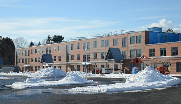 newburyport: Construction continues on the New Bresnahan School. Jim Vaikoras/staff photo