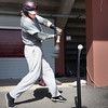 BRYAN EATON/Staff Photo. Newburyport's Ben Keeping in batting practice under World War Memorial Stadium yesterday.