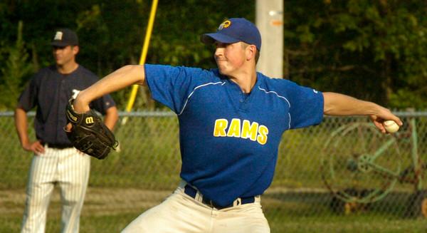 BRYAN EATON/ Staff Photo. Rowley Rams pitcher Joe White.
