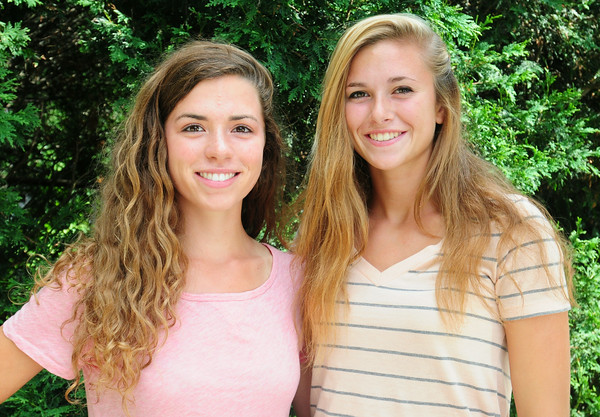 BRYAN EATON/ Staff Photo. Aly Leahy, left, and Julia Kipp.