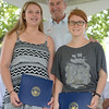 JIM VAIKNORAS/Staff photo Youth Commuity Service Award winners Alexa Looker and Cameron Cyr pose with Rep John Tierney at Old Fashiioned Sunday on the Mall in Newburyport Sunday.
