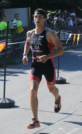 JIM VAIKNORAS/Staff photo Second place at the Dam Triathlon in Amesbury Saturday.