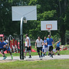 JIM VAIKNORAS/Staff photo  Both courts at Amesbury Park were full Saturday with the The CarriageTown ThrowDown Saturday at Amesbury Park. Proceeds from the 3 on 3 basketball tournament went to the