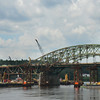JIM VAIKNORAS/Staff photo Work continues on the Whittier Bridge in Amesbury