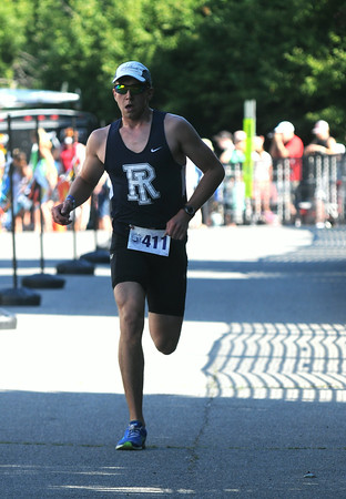 JIM VAIKNORAS/Staff photo Winner of the Dam Triathlon in Amesbury Saturday.