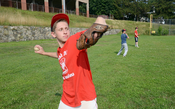 JIM VAIKNORAS/Staff photo Jake Valcich, 14, practices at Pettigill Field in Newburyport with his teammates.