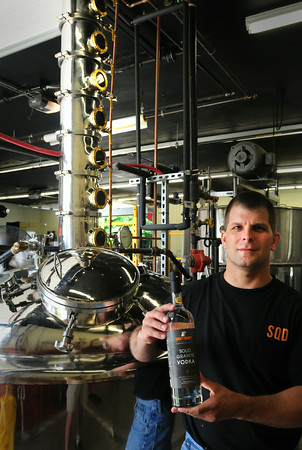 BRYAN EATON/ Staff Photo. Smoky Quartz Distillery owner Kevin Kurland makes his spirits on Route One in Seabrook.