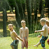 BRYAN EATON/ Staff Photo. Youngsters at Amesbury Recreation Department's Summer Program cool off at Amesbury Town Park yesteday. After possible rain last night, a cooling trend is on the way with a sunny weekend forecast.