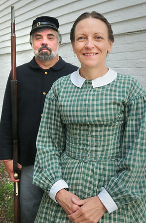 BRYAN EATON/ Staff Photo. Civil War re-enactors Bill and Liz Hallett.