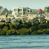 BRYAN EATON/ Staff Photo. View of the south jetty which was repaired earlier this year.