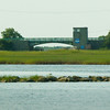 BRYAN EATON/ Staff Photo. View of Wilkinson Bridge on the Plum Island Turnpike under which the Plum Island River flows.