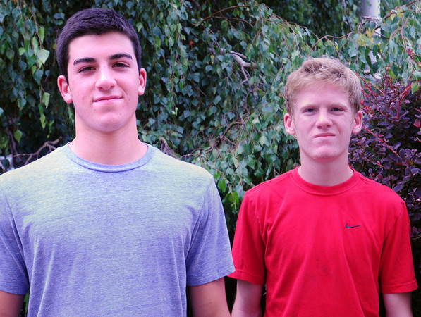 BRYAN EATON/ Staff Photo. Ben Ventura, left, and Jake Harlow.
