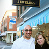 Newburyport: Matt and Karyn Khatib are moving their M.K. Benatti jewelry store from its present location to the space held by J.L. Coombs shoe store, brick building in back, at the corner of State and Middle Streets in Newburyport. Coombs is moving to a new location on Pleasant Street, one of several business shuffles in the downtown. Bryan Eaton/Staff Photo