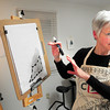Salisbury: Donna Scott of Salisbury leads a class in Zentagle at her studio on Beach Road. Bryan Eaton/Staff Photo