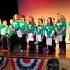 "Amesbury: Cashman Elementary School students perform ""This Is My America"" before Amesbury's new elected officials were sworn into office last night at Amesbury High School. Bryan Eaton/Staff Photo"
