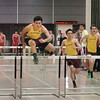 Ipswich: Newburyport's Alec Reduker leads his teammates in the 40 yard hurdles. Bryan Eaton/Staff Photo