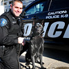 Salisbury: Salisbury police have a new K9 officer, Rich Dellaria, with his German shephard Herc. Bryan Eaton/Staff Photo
