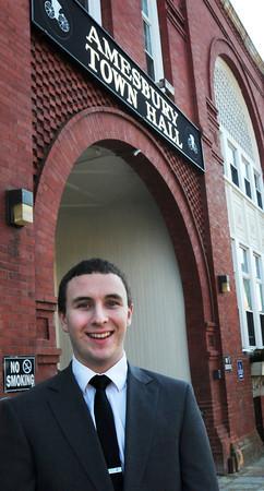 Amesbury: Amesbury Mayor Ken Gray's interin chief of staff, Evan Kenney. Bryan Eaton/Staff Photo