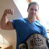 Newburyport: World champion arm-wrestler Rob Vigeant<br />  at his Newburyport home. Jim Vaiknoras/staff photo