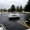 newburyport: Car move around the rotary at Merrimac Street and Spofford in Newburyport. Jim Vaiknoras/staff photo