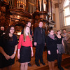 Methuen: The Methuen High Chorus perform the National Anthem at the 2014 Inauguration at The Methuen Memorial Music Hall Saturday morning. Jim Vaiknoras/staff photo