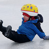 newburyport: Joinathan Boyd, 2, of Amesbury slips and falls on his back side at the Winter Carnival at the Bartlet Mall Saturday in Newburyport. Jim Vaiknoras/staff photo