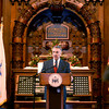 Methuen: Methuen Mayor Stephen Zanni speaks at his Inauguration at The Methuen Memorial Music Hall Saturday morning. Jim Vaiknoras/staff photo