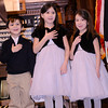 Methuen: Mayor Stephen Zanni's grand children Enzo, Gianna, and Eva Zanni lead the Pledge of Alligiance at the 2014 Inauguration at The Methuen Memorial Music Hall Saturday morning. Jim Vaiknoras/staff photo