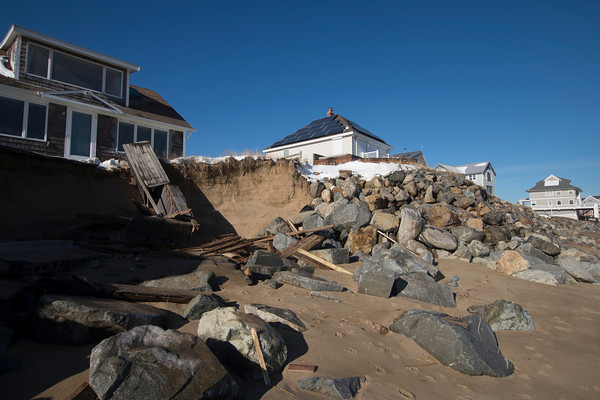 Newbury: Damage to 35 Southern Doulevard on Plum Island caused by Friday's storm. Jim Vaiknoras/staff photo