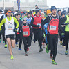 Salisbury: Runner take of at the start of the 33rd annual Hangover classic at Salisbury Beach Wednesday morning. Jim Vaiknoras/staff photo