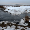 Newbury: Ice chokes an inlet in the salt marsh along the Plum Island Turnpike in Newbury; Jim Vaiknoras/staff photo