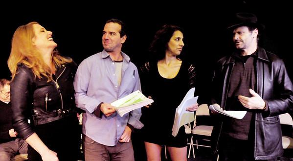 "BRYAN EATON/Staff Photo. Sarah Gibby, Jason Novak, Adrienne Montezinos and Steve Faria in the scene ""The Bear Trap."""