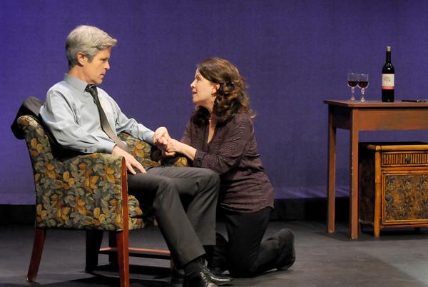 BRYAN EATON/Staff Photo. Charles Van Eman as Andrew and Karen Scalia as Maryanne.